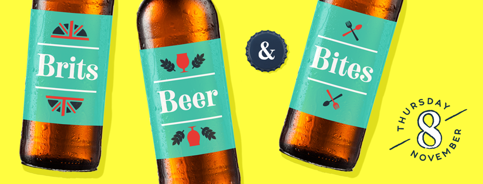 brits beer and bites banner with date