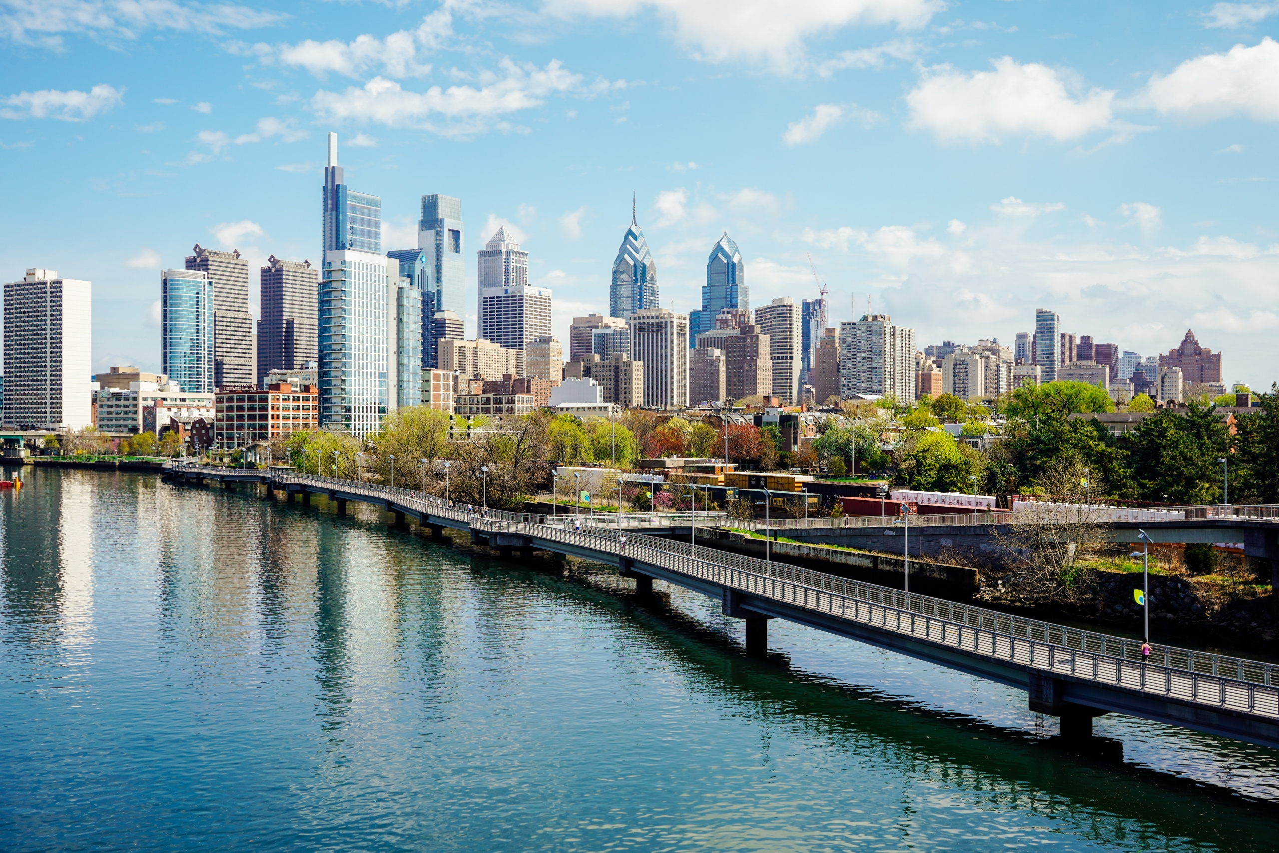 Skyline from South Street Bridge Spring 2019 photo credit Kyle Huff for PHLCVB (2)